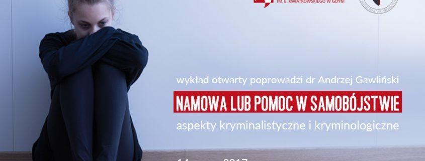 Namowa lub pomoc w samobójstwie - wykład otwarty WSAiB Gdynia