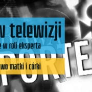 Debiut w telewizji Andrzej Gawlinski ekspert programu Sprawa dla reportera