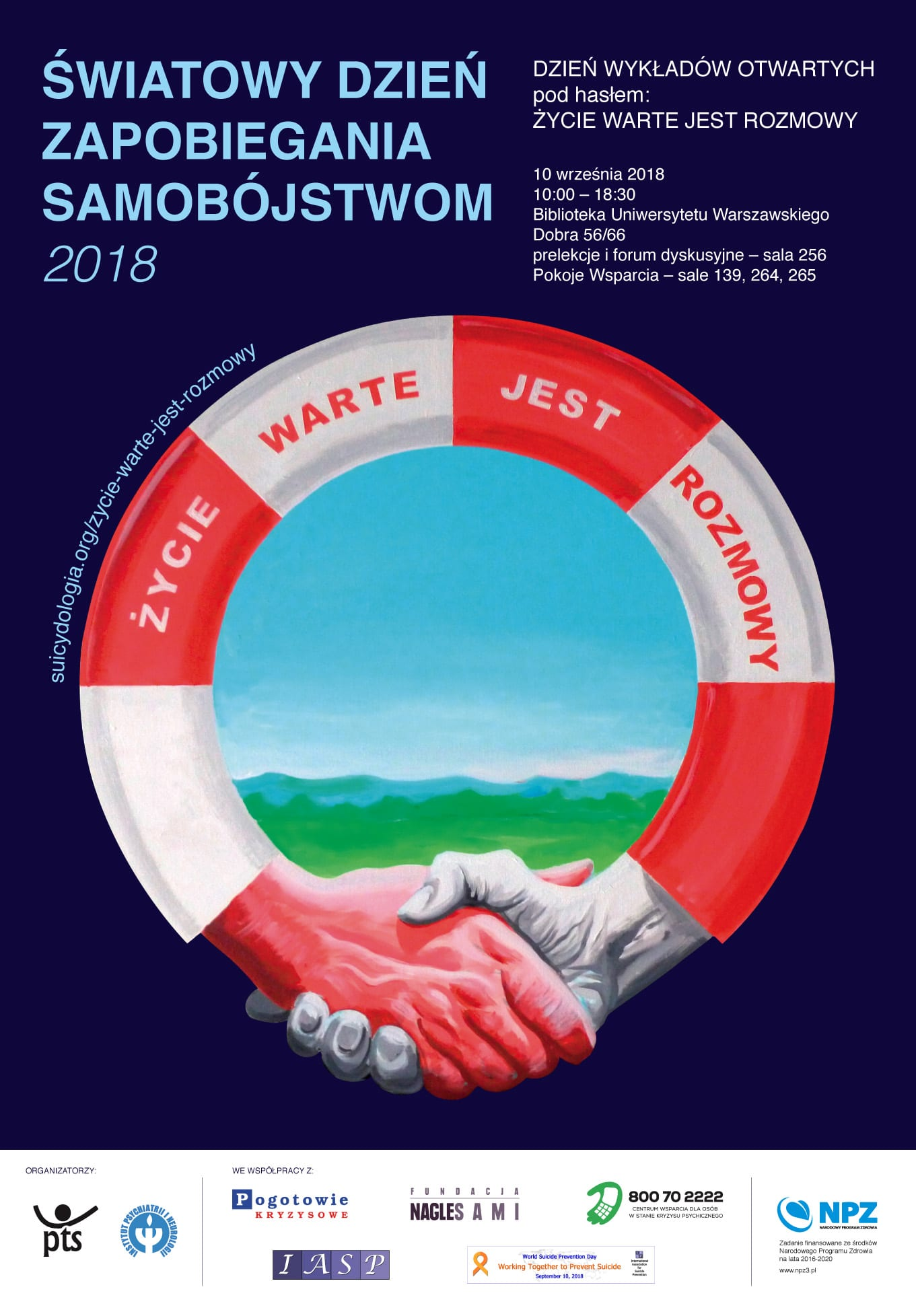 ŻYCIE WARTE JEST ROZMOWY - plakat - źródło http://suicydologia.org/zycie-warte-jest-rozmowy/