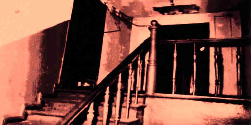 Wejście do mieszkania Bogdana Arnolda - rok 1967.