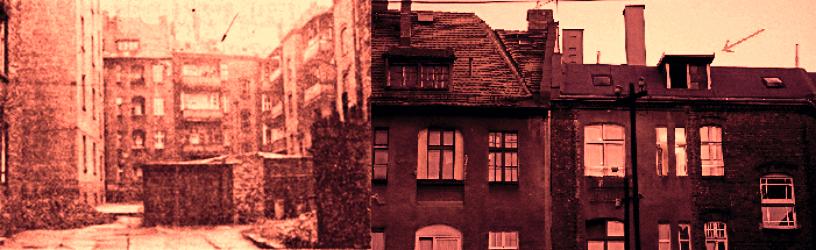 Widok na okno mieszkania nr 9, w którym zaobserwowano roje much. Czerwiec 1967 vs sierpień 2018.