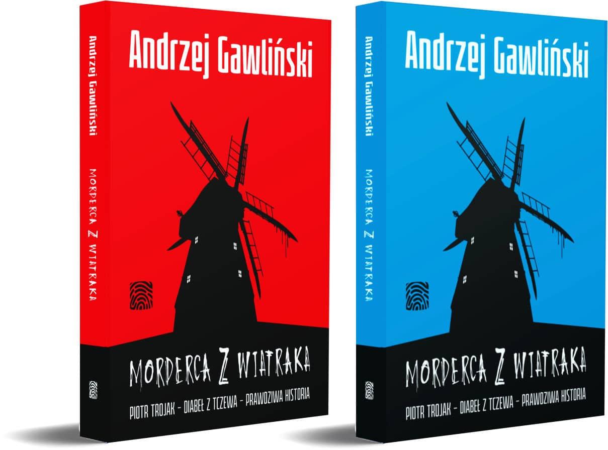 Morderca z wiatraka - książka 2 wersje okładek
