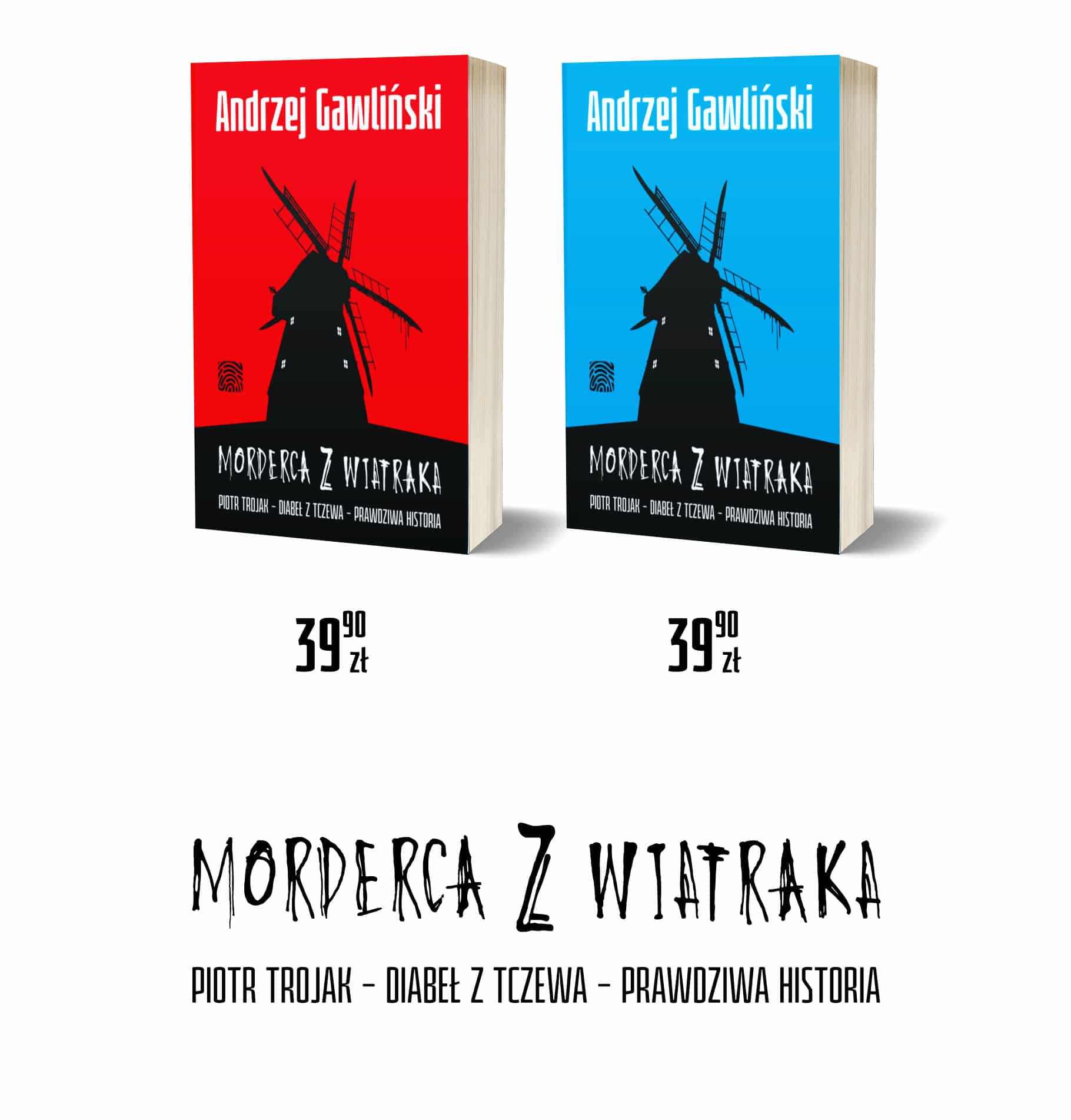 Morderca z wiatraka - 2 wersje - tytul i ksiazki