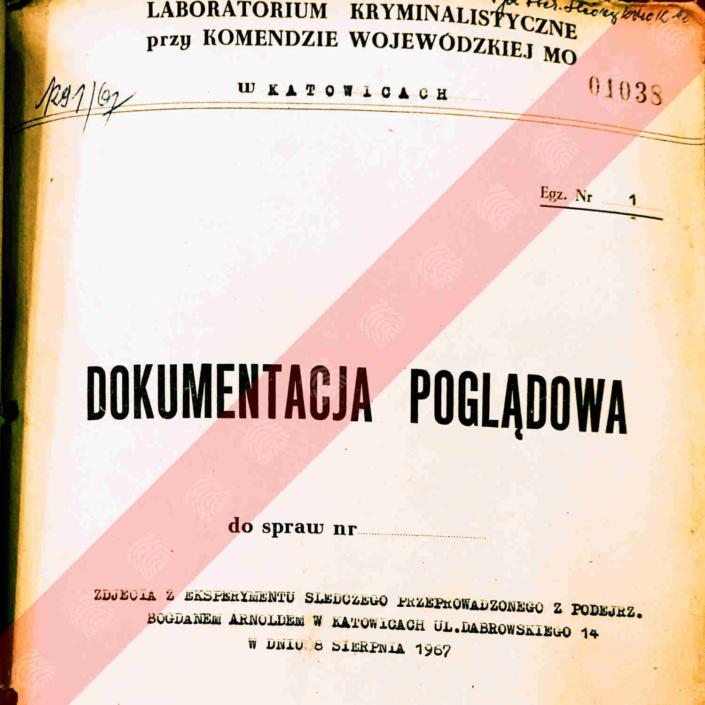 Dokumentacja poglądowa - Laboratorium Kryminalistyczne przy KW MO w Katowicach