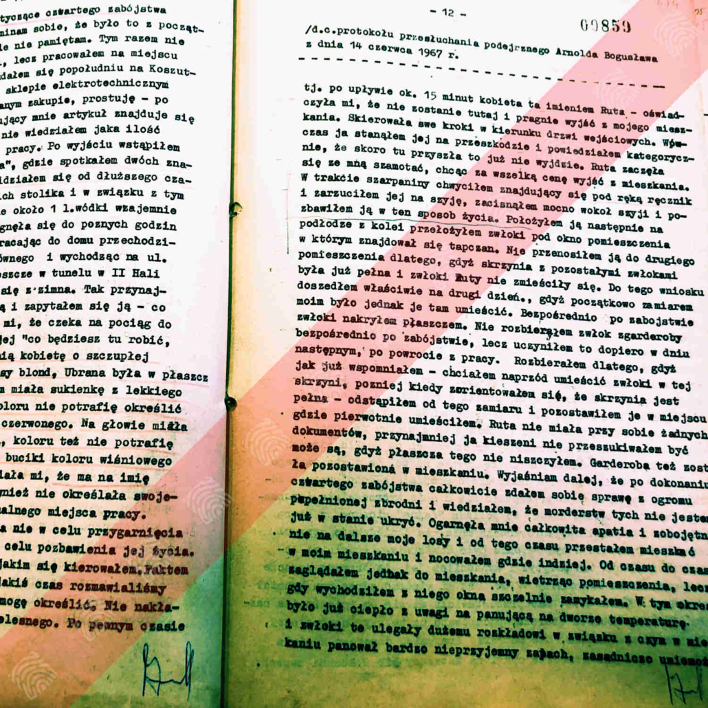 Protokół przesłuchania podejrzanego Bogdana Arnolda z dnia 14 czerwca 1967 r.