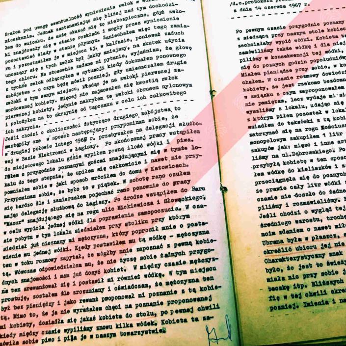 Protokół przesłuchania podejrzanego Bogdana Arnolda z dnia 14 czerwca 1967 r. - o pozbywaniu się zwłok
