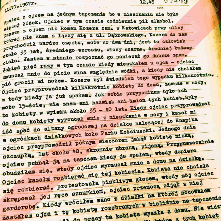 Protokół przesłuchania świadka Ryszarda Arnolda - syna Bogdana Arnolda