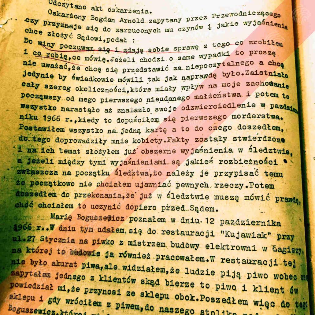 Protokół rozprawy głównej z dnia 4 marca 1968 r.