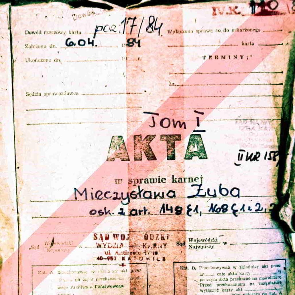 Mieczysław Zub - Fantomas - Akta sprawy karnej - źródła