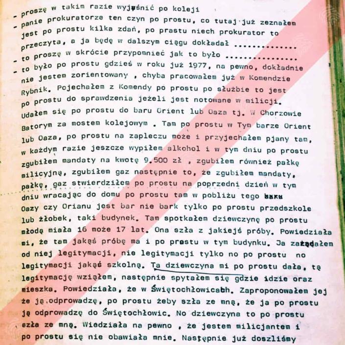 Mieczysław Zub - Fantomas - stenogram wizja